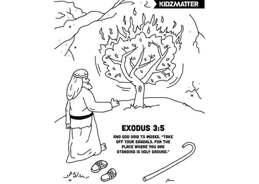 burning bush coloring page moses talking to god on the mount horeb coloring page from burning page coloring bush