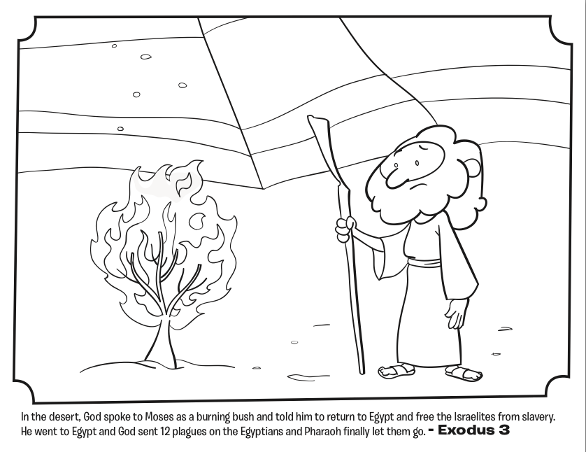burning bush coloring page moses the burning bush coloring page free printable burning page coloring bush