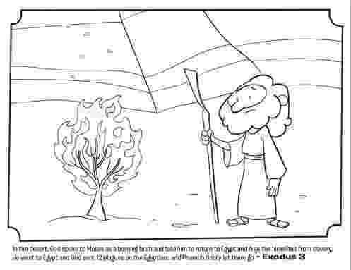 burning bush coloring page printable moses coloring pages for kids cool2bkids page bush coloring burning