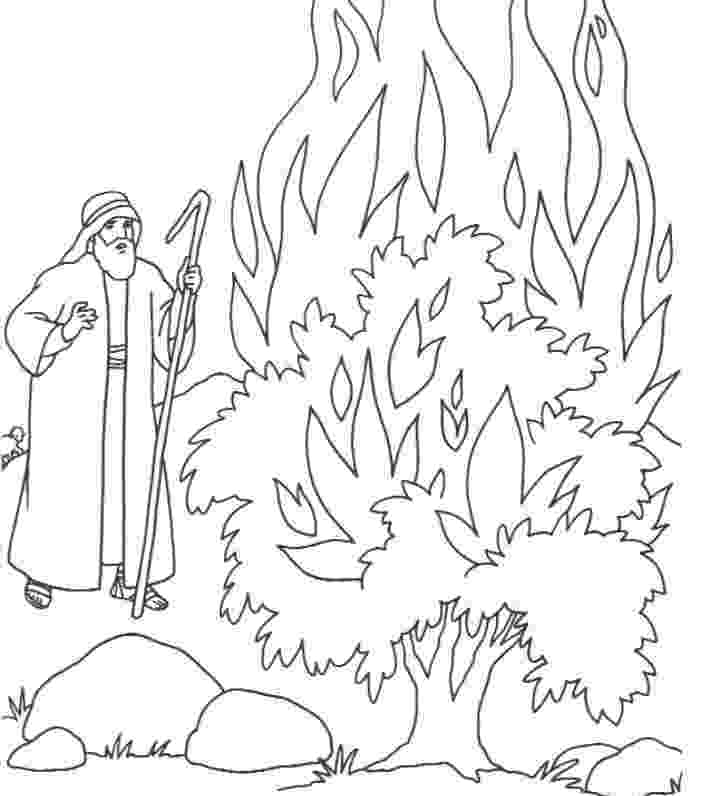 burning bush coloring page the heroes of the bible coloring pages moses and the coloring burning bush page