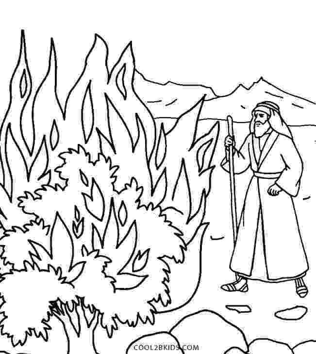 burning bush coloring page two coloring pages moses in the nile and the red sea coloring bush page burning