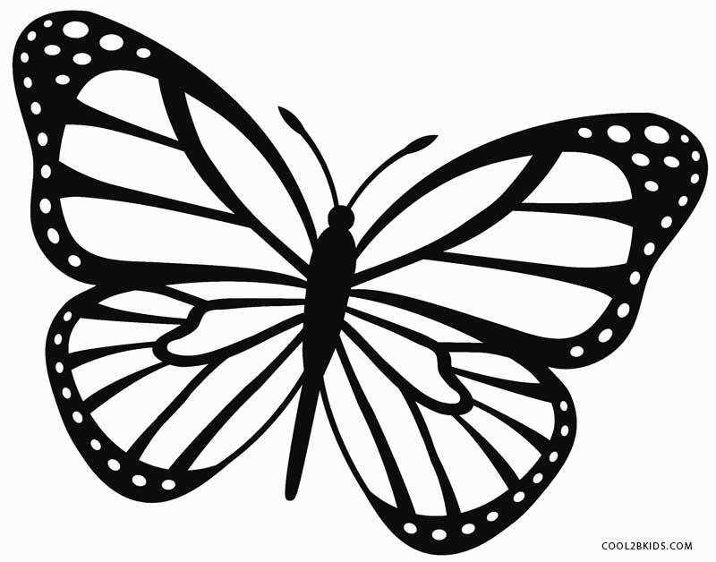 butterflies to color printable butterfly coloring pages for kids cool2bkids butterflies color to