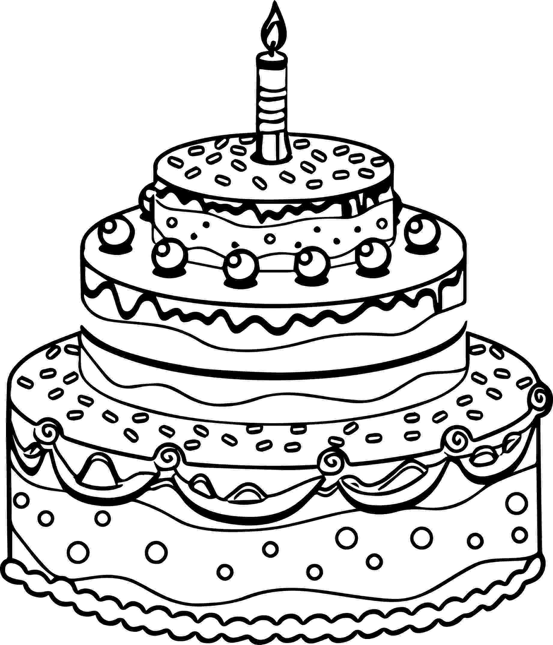 cake coloring pages to print birthday cake coloring pages getcoloringpagescom print cake to coloring pages