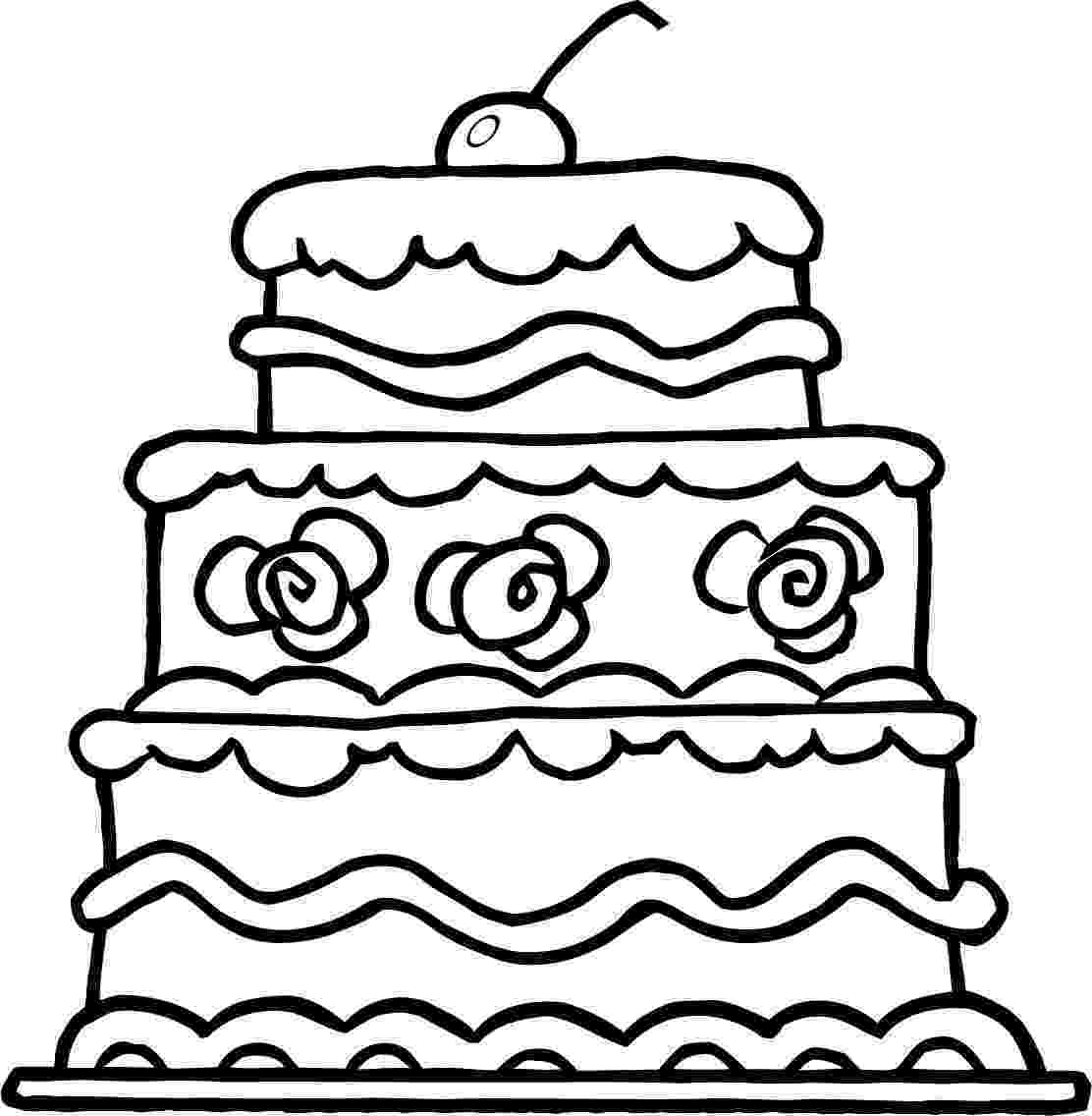 cake coloring pages to print free printable birthday cake coloring pages for kids to pages cake coloring print