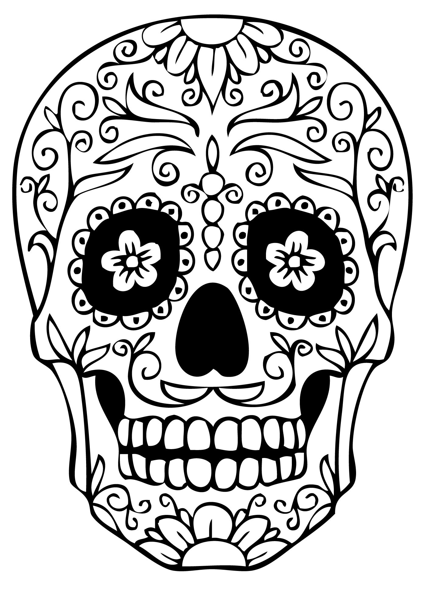 candy skull coloring pages extra large sugar skull makeup pinterest coloring candy pages skull