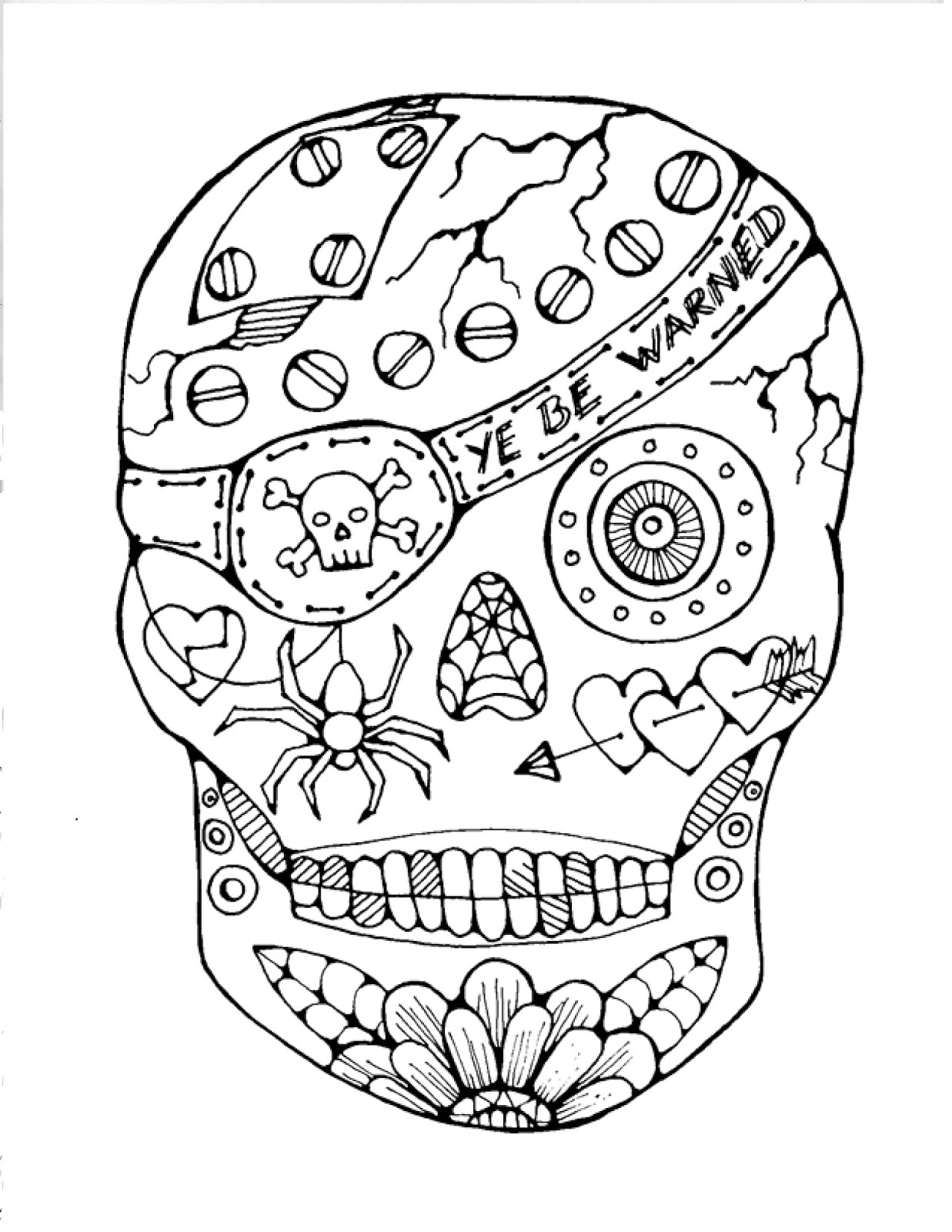 candy skull coloring pages hard coloring page of sugar skull to print for grown ups pages candy coloring skull