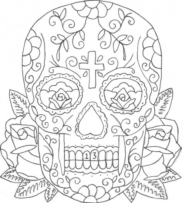 candy skull coloring pages sugar skull coloring page crayolacom candy pages skull coloring