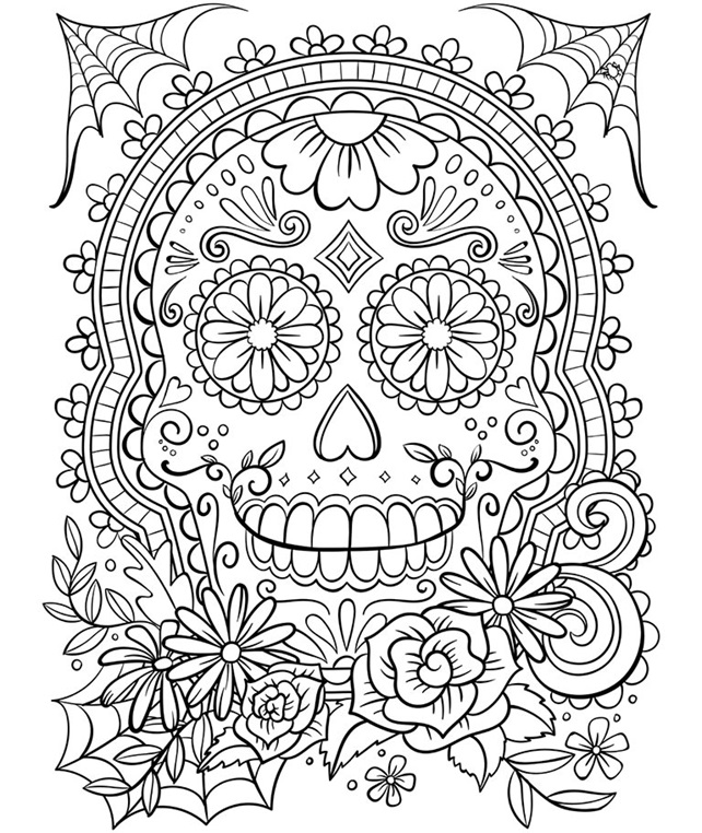 candy skull coloring pages sugar skull coloring page free printable coloring pages coloring candy skull pages