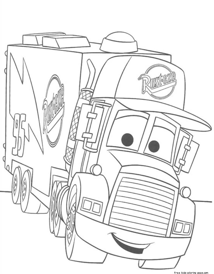 cars 2 pictures to print cars 2 mack truck car carrier coloring pages for kidsfree print pictures 2 cars to