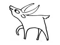 cartoon antelope american antelope pronghorn coloring page free printable antelope cartoon