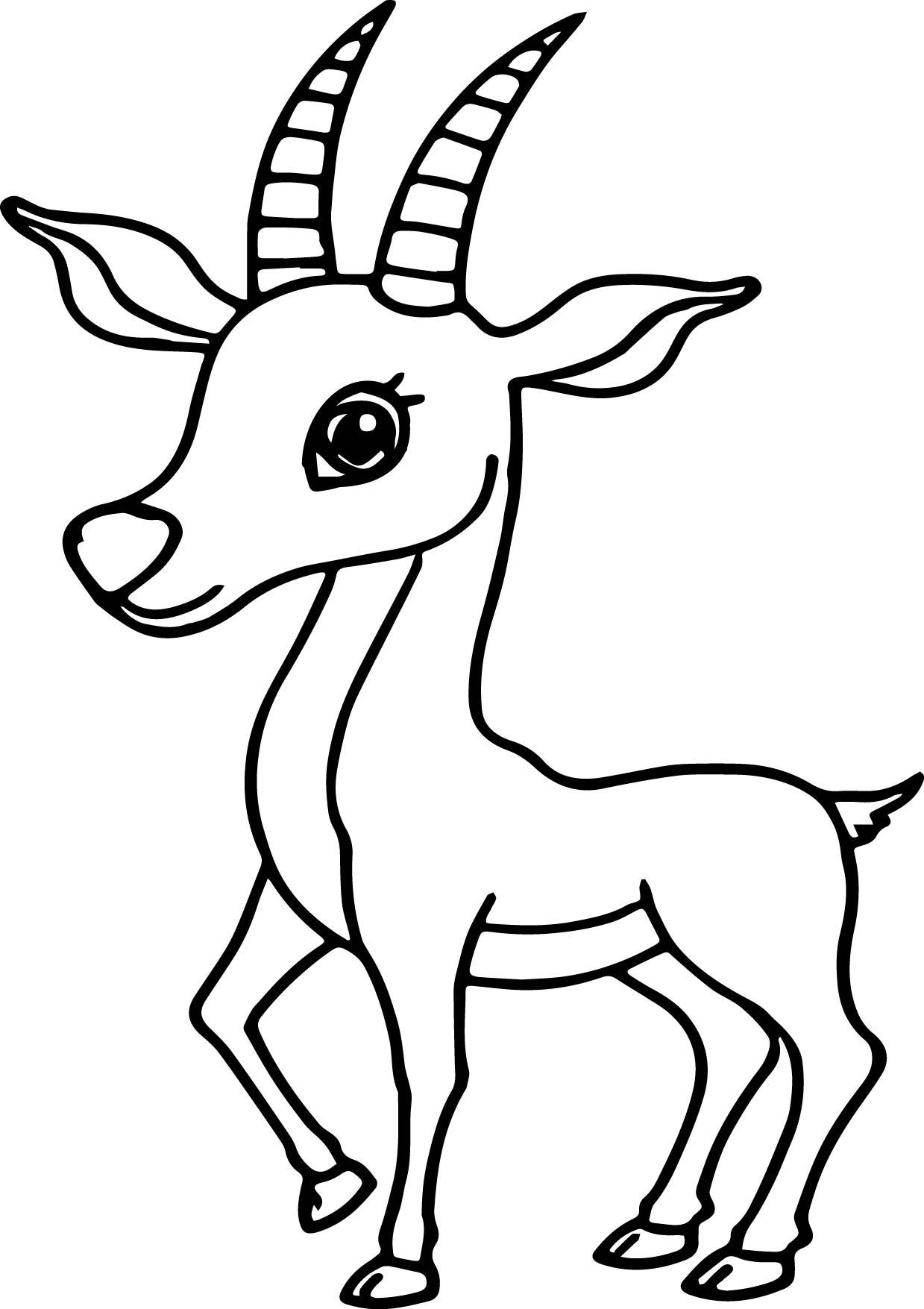 cartoon antelope antelope cartoon clipart best antelope cartoon