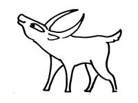 cartoon antelope cartoon antelope coloring pages for kids cartoon antelope