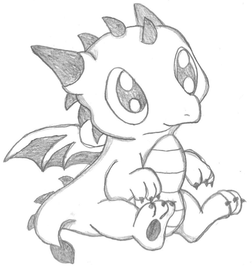 cartoon dragon niedliche cartoon drachen schwarz und weiß vektor dragon cartoon
