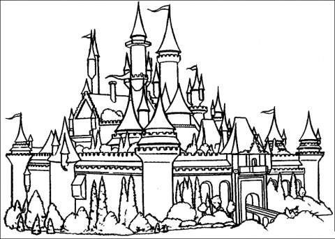 castle printable disney castle free printable disney coloring pages castle printable