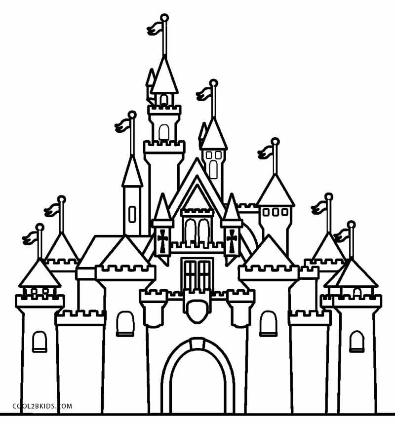 castle printable free printable castle coloring pages for kids castle printable
