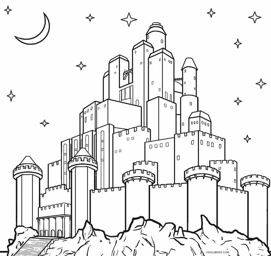 castle printable free printable castle coloring pages for kids printable castle