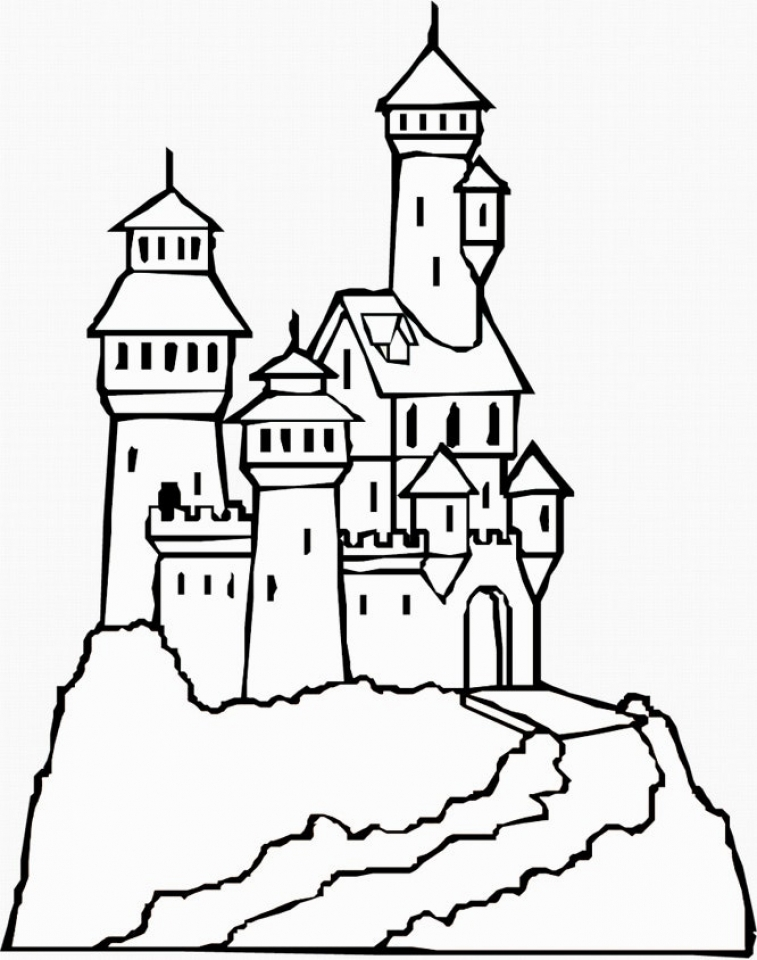 castle printable free printable castle coloring pages for kids printable castle 1 2