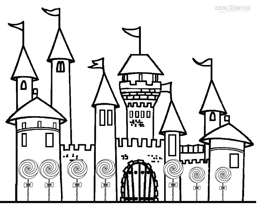 castle printable printable candyland coloring pages for kids cool2bkids castle printable