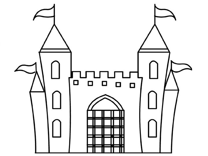 castle printable printable castle coloring pages for kids cool2bkids castle printable