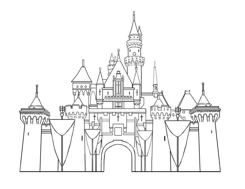castle printable printable castle coloring pages for kids cool2bkids printable castle 1 1