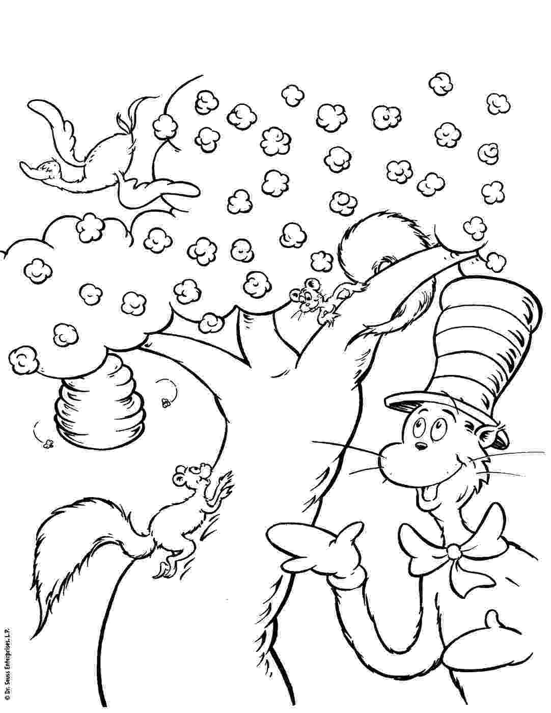 cat in the hat coloring sheets dr seuss coloring pages getcoloringpagescom sheets in the cat coloring hat