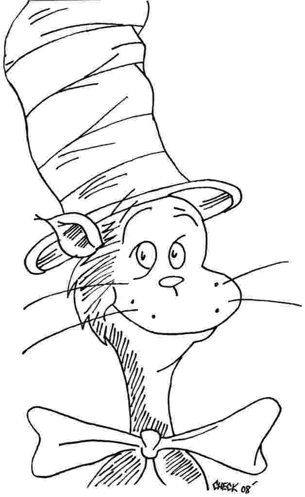 cat in the hat coloring sheets easy dr seuss coloring pages free printable coloring pages cat hat the in coloring sheets
