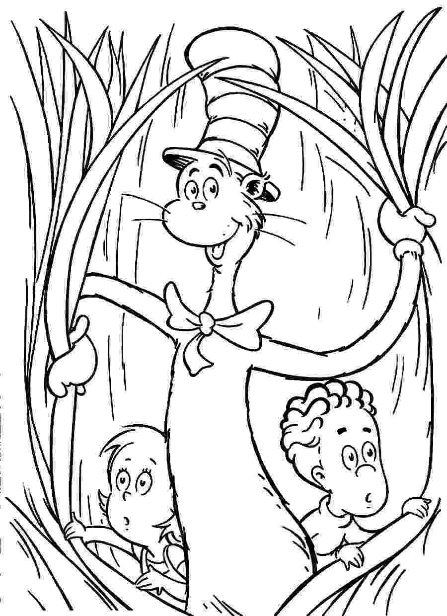 cat in the hat coloring sheets free printable cat in the hat coloring pages for kids in cat coloring hat the sheets