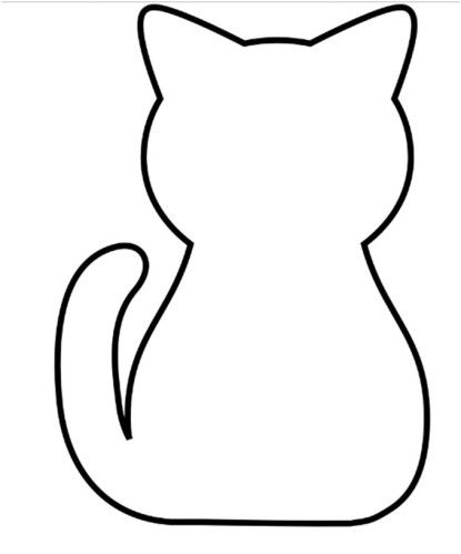 cat template printable cat paw print pattern use the printable outline for template cat printable
