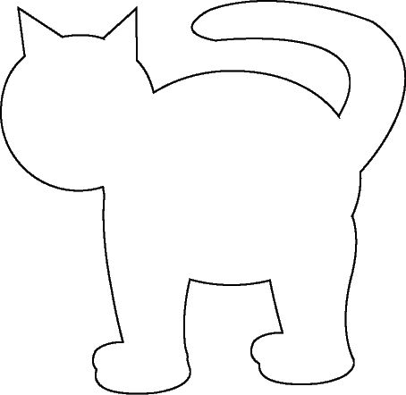 cat template printable cat shape template animal templates free premium cat printable template