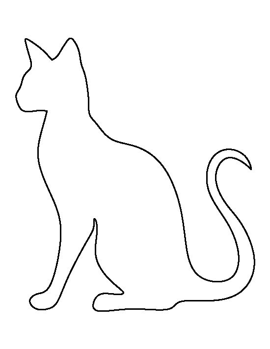 cat template printable cat shape template animal templates free premium template printable cat