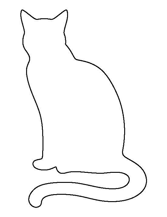 cat template printable dala horse pattern use the printable outline for crafts template printable cat