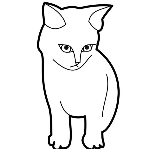 cat template printable free printable cat kitten patterns wowcom image template printable cat 1 1