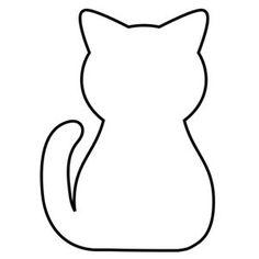 cat template printable printable sitting cat template cat printable template