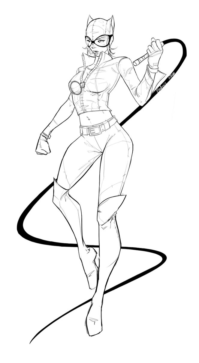 catwoman coloring page catwoman drawing at getdrawingscom free for personal page coloring catwoman