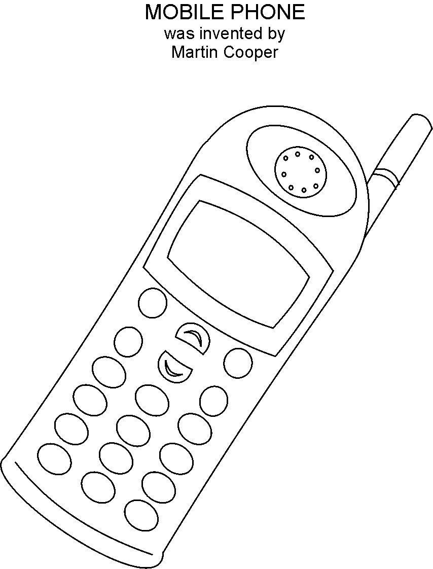 cell phone coloring pages cell phone clip art black and white clipart panda free coloring cell pages phone