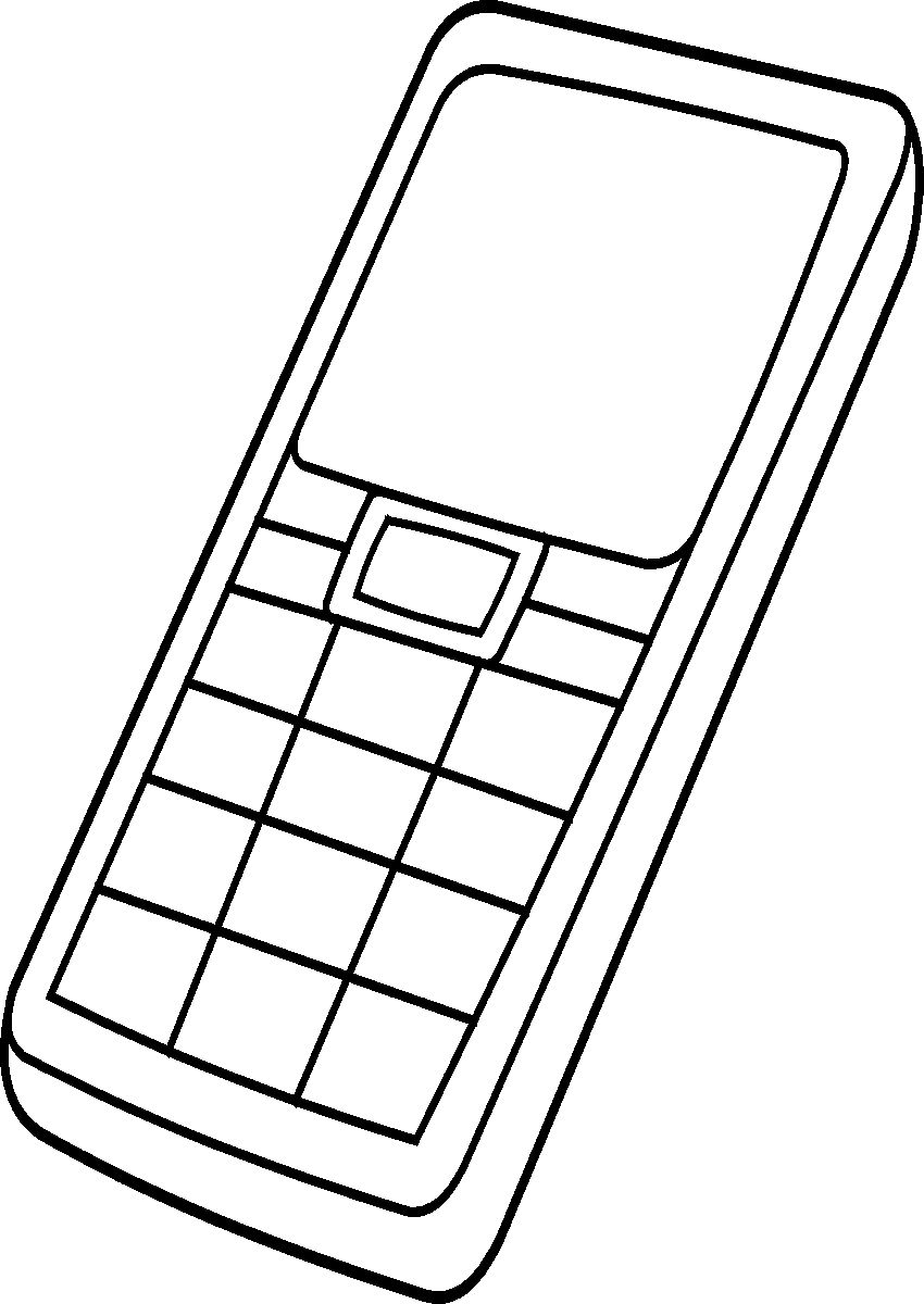 cell phone coloring pages cell phone coloring pages coloring home pages coloring cell phone 1 1