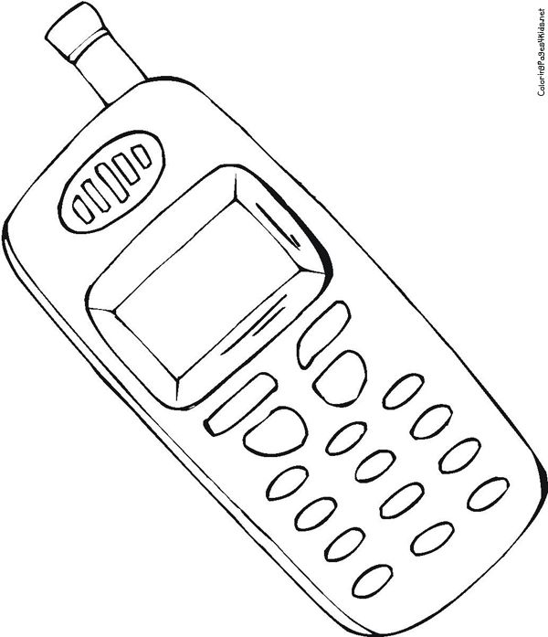 cell phone coloring pages cell phone drawing at getdrawingscom free for personal coloring cell phone pages