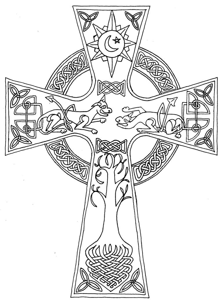celtic coloring page celtic knot coloring pages getcoloringpagescom coloring page celtic
