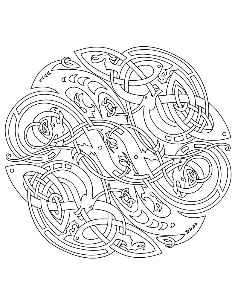 celtic coloring page mandala coloring pages celtic mandala coloring pages for page coloring celtic