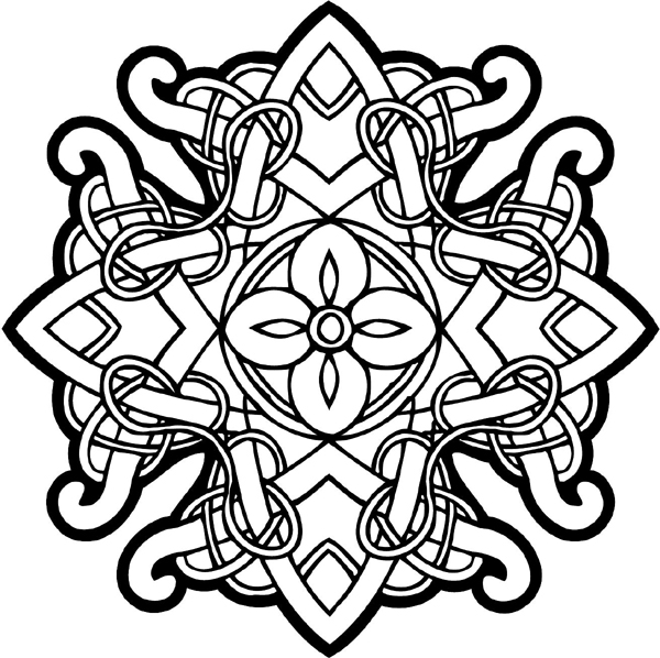 celtic coloring page signspecialistcom general decals celtic intricately page coloring celtic