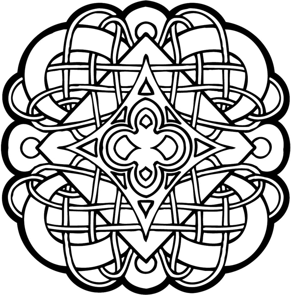 celtic coloring page signspecialistcom general decals celtic symbol vinyl celtic coloring page