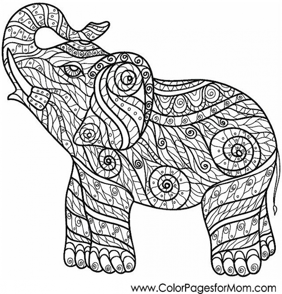 challenging coloring pages 20 free printable hard elephant coloring pages for adults challenging pages coloring