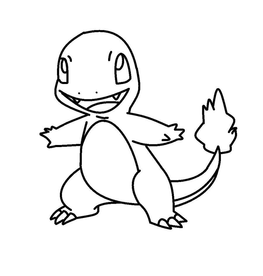 charmander coloring page charmander by vanysensei lineart by vanysensei on deviantart charmander coloring page