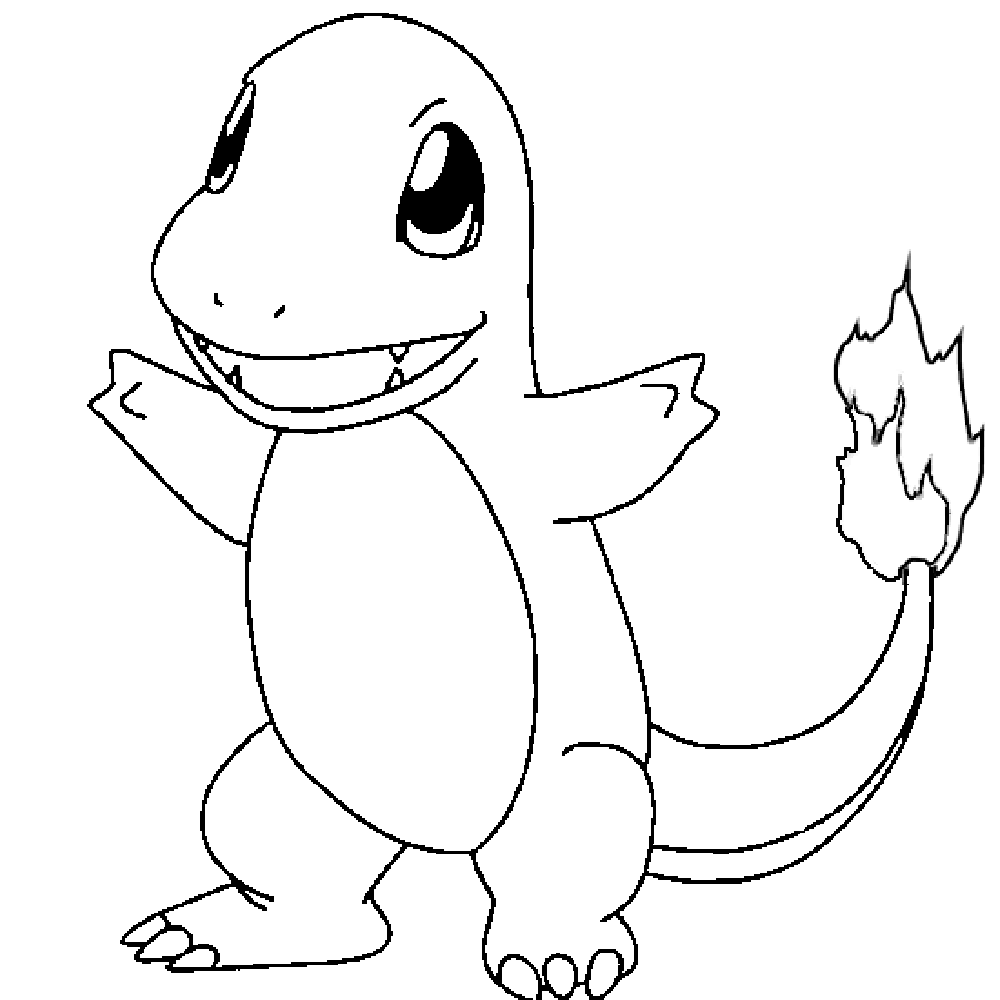 charmander coloring page charmander lineart free download on ayoqq cliparts charmander coloring page