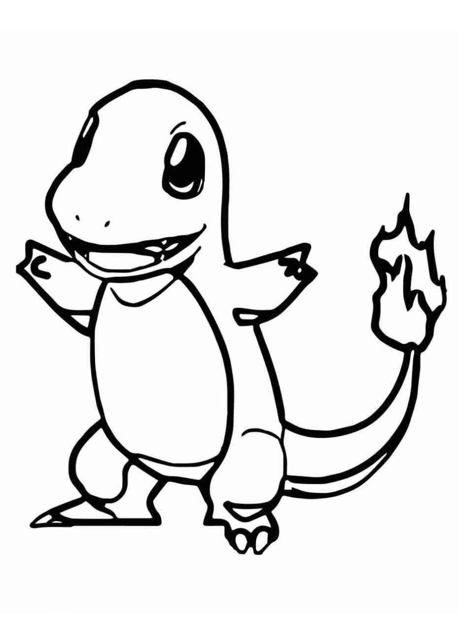 charmander coloring page free coloring pages charmander page coloring