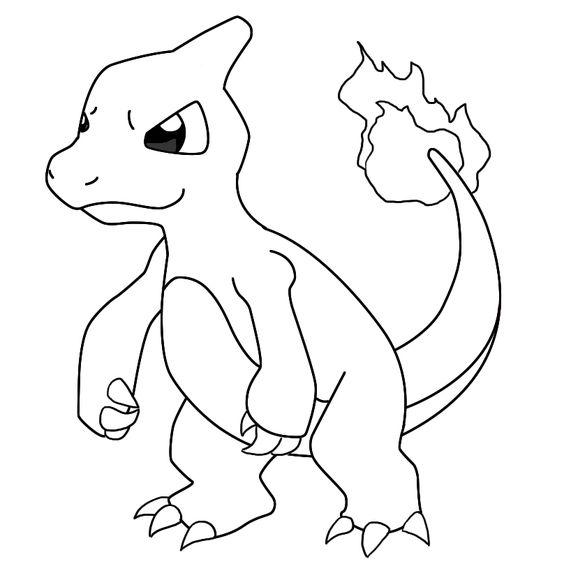 charmander coloring page pokemon charmander coloring page Çizilecek şeyler coloring page charmander