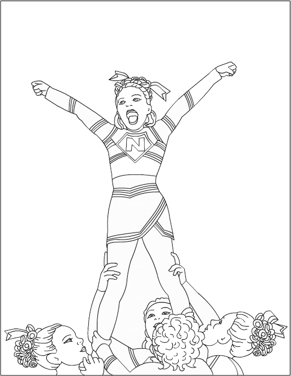 cheerleading coloring sheets cheer coloring pages to download and print for free coloring sheets cheerleading