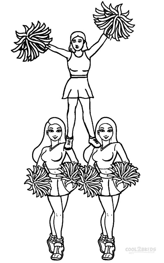 cheerleading coloring sheets cheerleader perform great stunt coloring pages best cheerleading sheets coloring