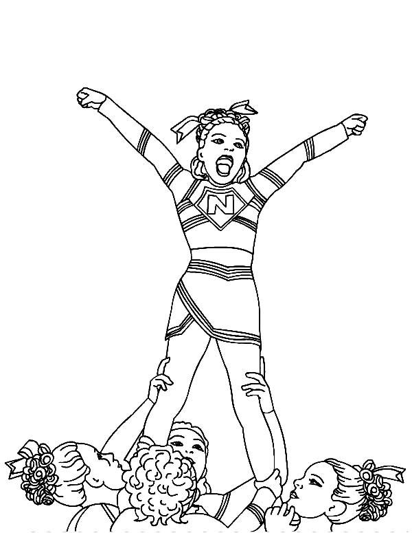 cheerleading coloring sheets cheerleading coloring pages birthday printable cheerleading coloring sheets