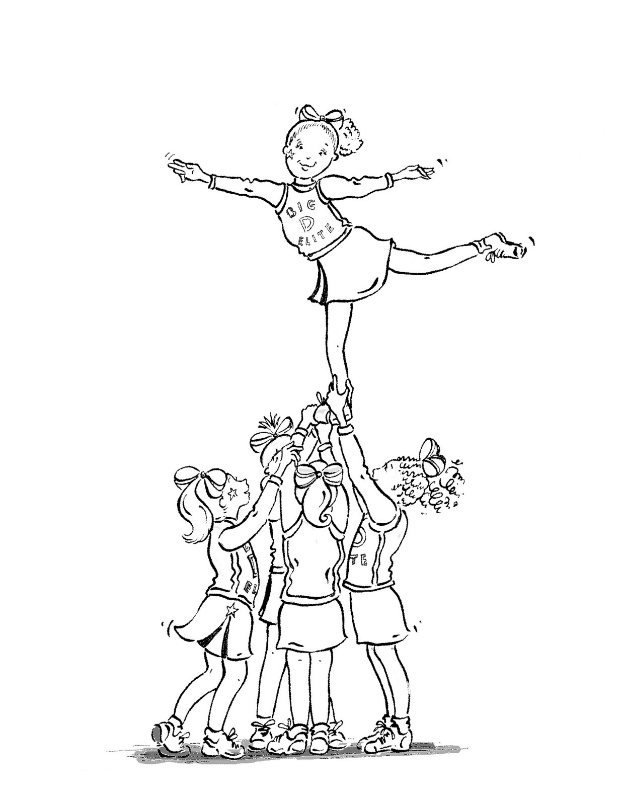 cheerleading coloring sheets printable cheerleading coloring pages for kids cool2bkids sheets cheerleading coloring